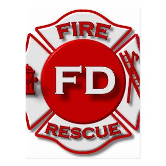 Carte Postale Fierté de pompier