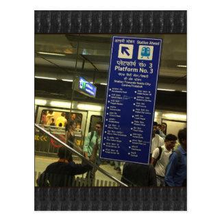 Carte Postale Fierté indienne de chemins de fer de métro de