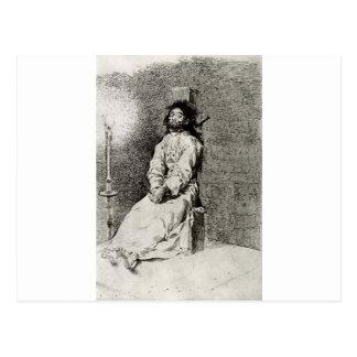 Carte Postale Figé par Francisco Goya