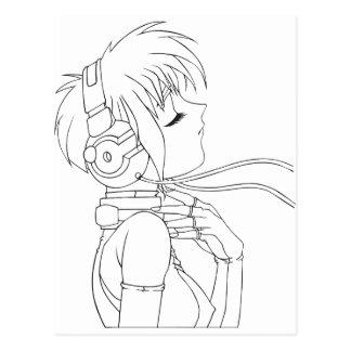 Carte Postale Fille d'Anime