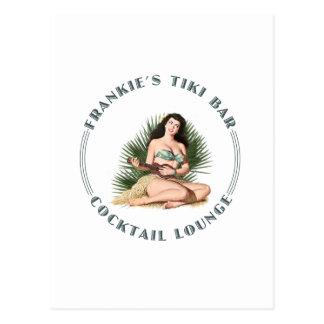 Carte Postale Fille de danse polynésienne de barre de Tiki de