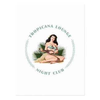 Carte Postale Fille de danse polynésienne de salon de Tropicana