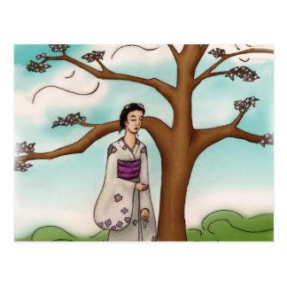 Carte Postale Fille de kimono