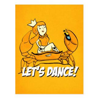 Carte Postale Fille de reggae de crabe de la Reine
