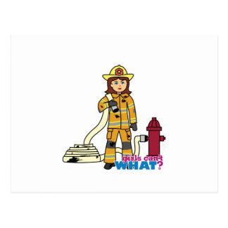 Carte Postale Fille de sapeur-pompier