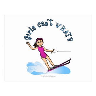 Carte Postale Fille de skieur d'eau légère