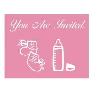Carte Postale Fille d'invitations de baby shower