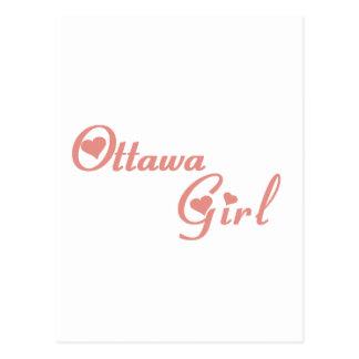 Carte Postale Fille d'Ottawa