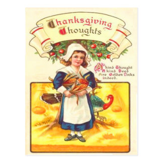 Carte Postale Fille et la Turquie de puritain