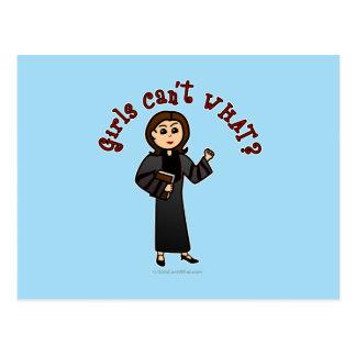 Carte Postale Fille légère de pasteur