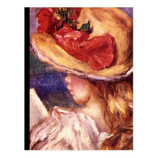 Carte Postale Fille Reading_Impressionists