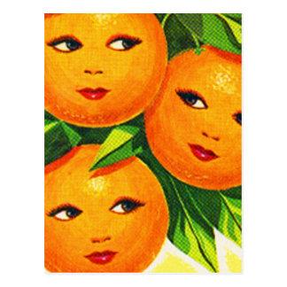 Carte Postale Filles oranges d'oranges vintages de kitsch '