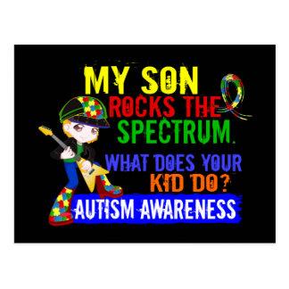 Carte Postale Fils d'autisme de spectre de roches