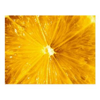 Carte Postale Fin colorée lumineuse de citron