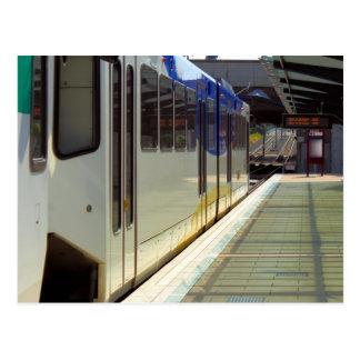 Carte Postale Fin de train de rail de lumière électrique