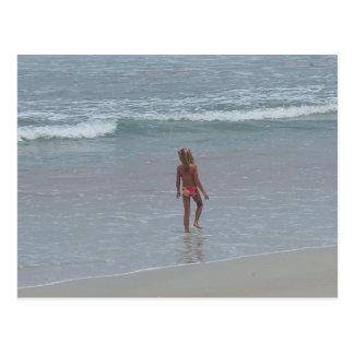 Carte postale FL de fille de bikini de Daytona