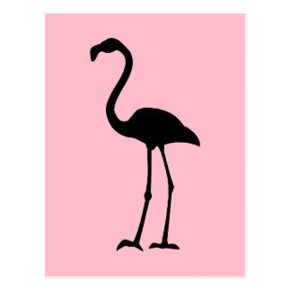 Carte Postale Flamant rose et noir