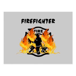 Carte Postale Flammes de département du feu