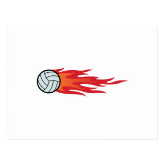 Carte Postale Flammes de volleyball