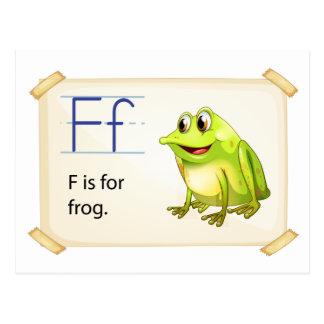 Carte Postale Flashcard de grenouille