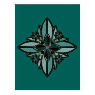 Carte Postale fleur celtique II de bonne chance de fer de