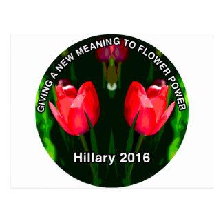 Carte Postale Fleur de rouge de Hillary Clinton 2016