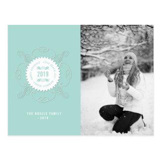 Carte postale fleurie de vacances de joint de