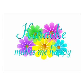 Carte Postale Fleurs de bonheur de karaoke