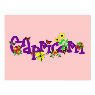 Carte Postale Fleurs de Capricorne