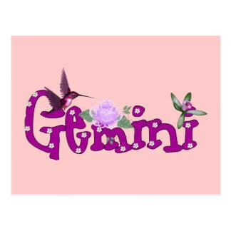 Carte Postale Fleurs de Gémeaux