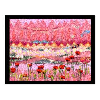Carte Postale Fleurs sur une colline