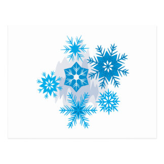 Carte Postale Flocons de neige