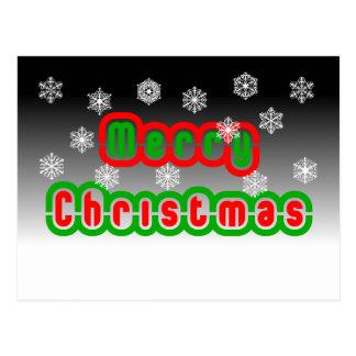 Carte Postale Flocons de neige de Joyeux Noël