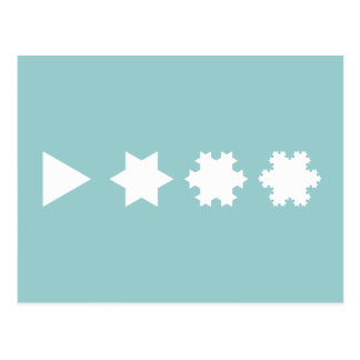 Carte Postale Flocons de neige de Koch