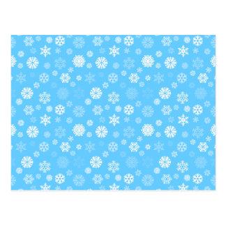 Carte Postale Flocons de neige d'hiver
