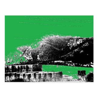 Carte Postale Foin avec le vert