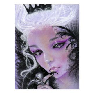 Carte postale folle de reine