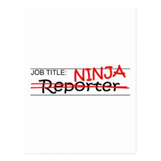Carte Postale Fonction Ninja - journaliste