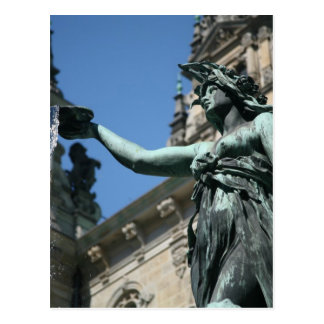 Carte Postale Fontaine de Hygieia, Hambourg, Allemagne