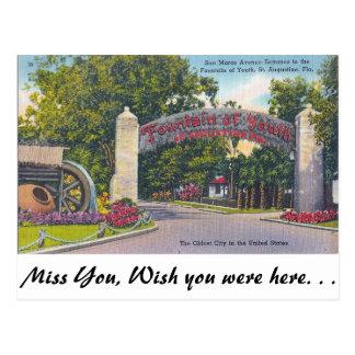 Carte Postale Fontaine de la jeunesse