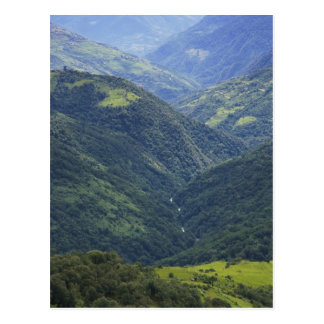 Carte Postale Forêt de terres cultivables et de l'Himalaya en