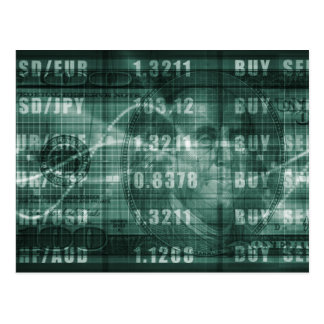 Carte Postale Forex commerçant en ligne et avec le graphique de