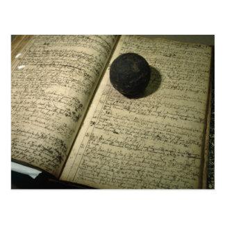 Carte Postale Forme de livre d'inscription la période de la