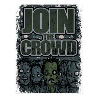 Carte Postale Foule de monstre de zombi de Wellcoda complètement