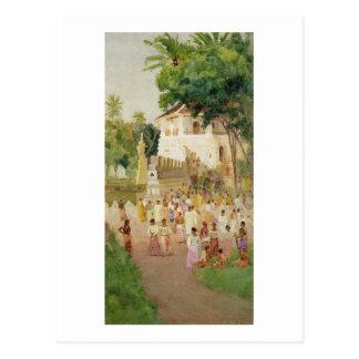 Carte Postale Foules à un monument en Inde, 1895 (la semaine et