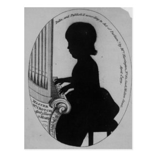 Carte Postale Fourche de William jouant l'organe