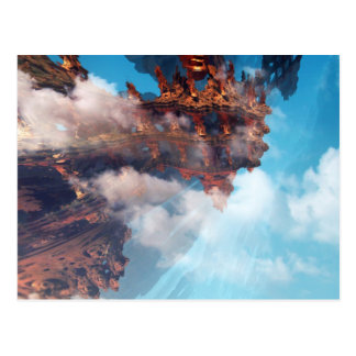 Carte Postale Fractale de roche de ciel