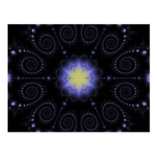 Carte Postale Fractale de solstice d'hiver