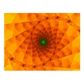 Carte Postale Fractale d'orange de Geo