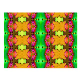Carte Postale fractale jaune de rubans